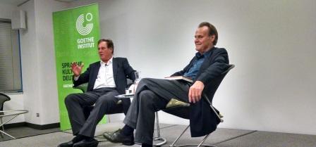 Former ACG President William M. Drozdiak with Author Peter Schneider